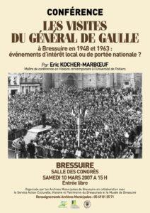 Affiche conférence Général De Gaulle