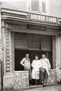 Boucherie Joncheraye, rue Gambetta. Collection Famille Joncheraye