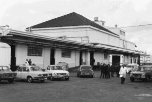 Cour intérieure de l'abattoir, années 1970.Collection Christian Tronquet