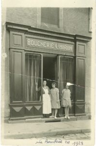 Boucherie Chiron, place Carnot. Collection Famille Chiron